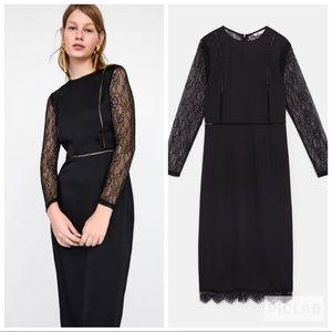 NWT • Zara • Contrasting Lace Dress